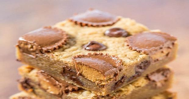 Peanut Butter Cup Peanut Butter Bars Recipe