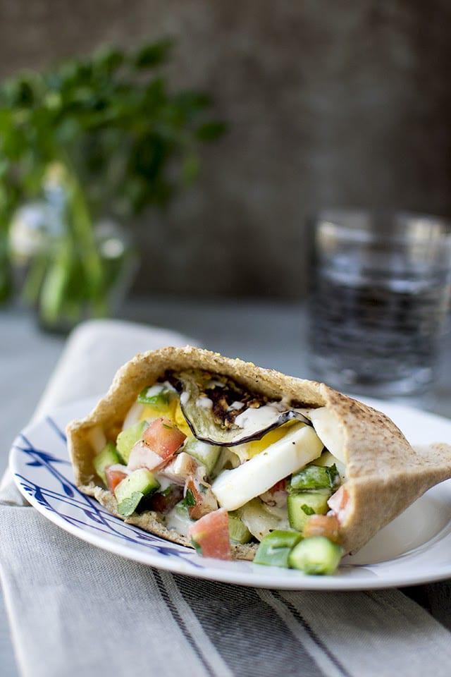 Sabich (Israeli Vegetarian Sandwich) for #Food of the World